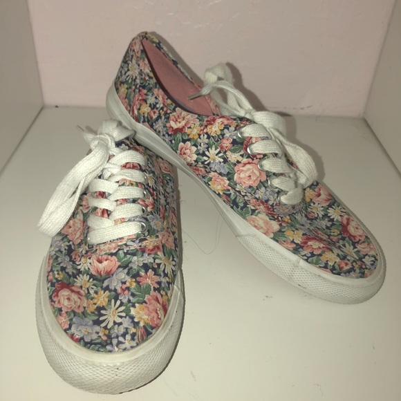 Shoes | Floral Print Sneakers | Poshmark
